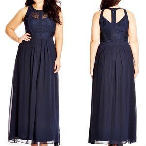 City Chic Lace Bodice Maxi Dress NEW